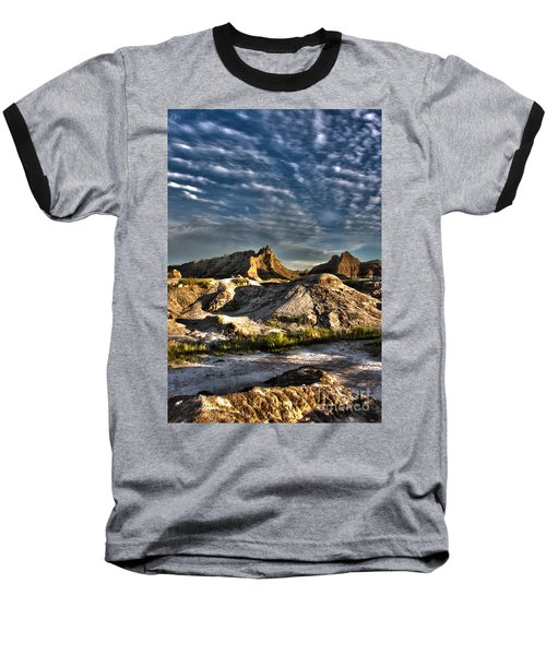 Badlands National Park Sunset Baseball T-Shirt