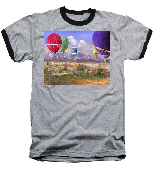 Baseball T-Shirt featuring the painting Balloons by Jamie Frier