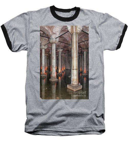 Basilica Cistern 02 Baseball T-Shirt by Antony McAulay