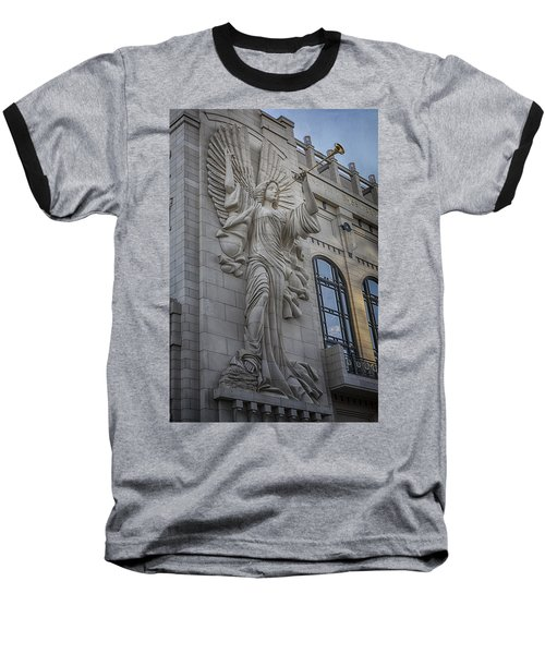 Bass Hall Angel Baseball T-Shirt by Joan Carroll