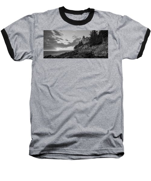Bass Harbor Head Light Sunset  Baseball T-Shirt