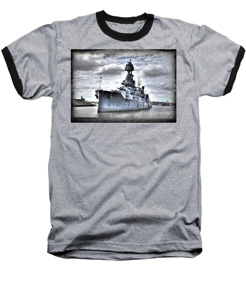 Battleship Texas Baseball T-Shirt by Savannah Gibbs