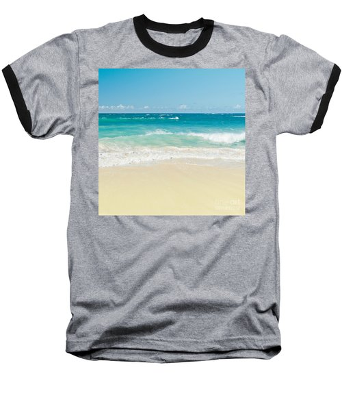 Baseball T-Shirt featuring the photograph Beach Love by Sharon Mau