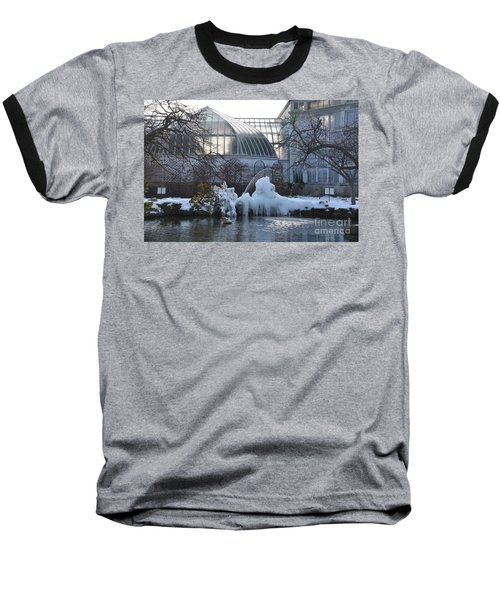 Belle Isle Conservatory Pond 2 Baseball T-Shirt