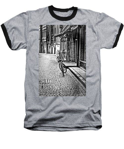 Baseball T-Shirt featuring the photograph Bicycle And Sparrow 2  by Elf Evans