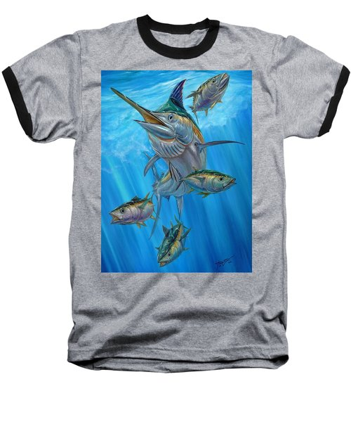 Black Marlin And Albacore Baseball T-Shirt