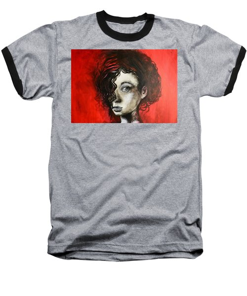Baseball T-Shirt featuring the painting Black Portrait 23 by Sandro Ramani