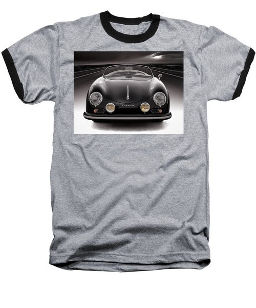 Black Speedster Baseball T-Shirt
