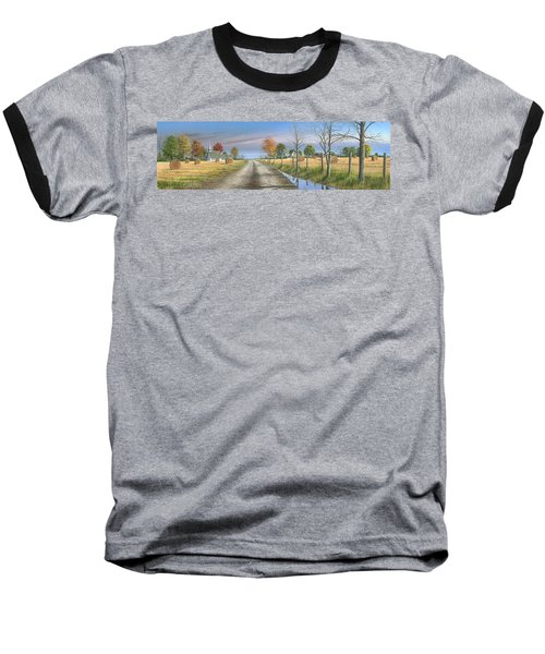 Baseball T-Shirt featuring the painting Bless Thy Fertile Soil by Mike Brown