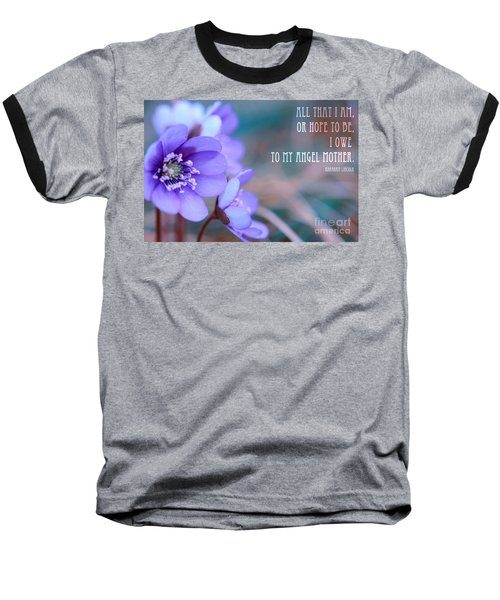 Blue Springtime Flowers Mother's Day Baseball T-Shirt