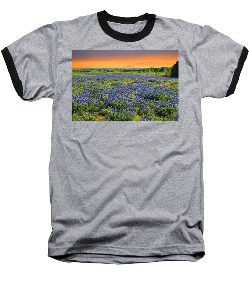 Bluebonnet Sunset  Baseball T-Shirt by Lynn Bauer