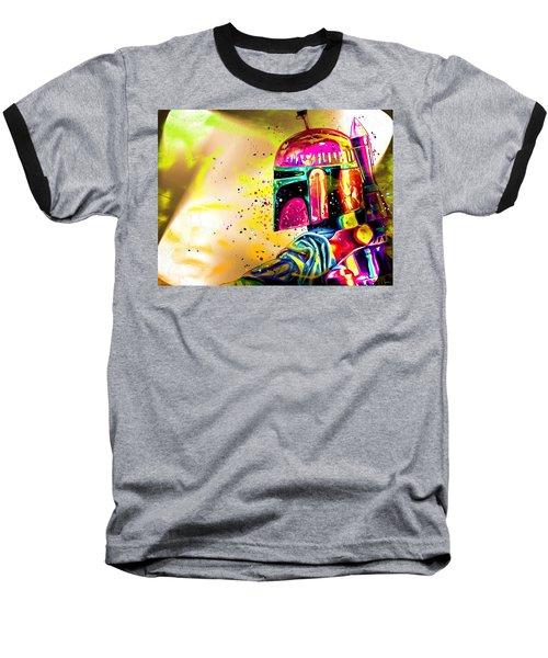 Boba Fett Star Wars Baseball T-Shirt by Daniel Janda