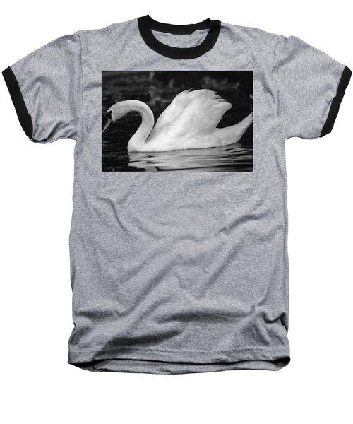 Boston Public Garden Swan Baseball T-Shirt