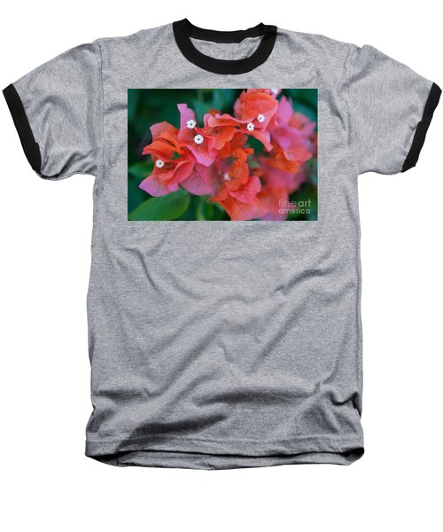Bougainvillea Baseball T-Shirt by Roselynne Broussard