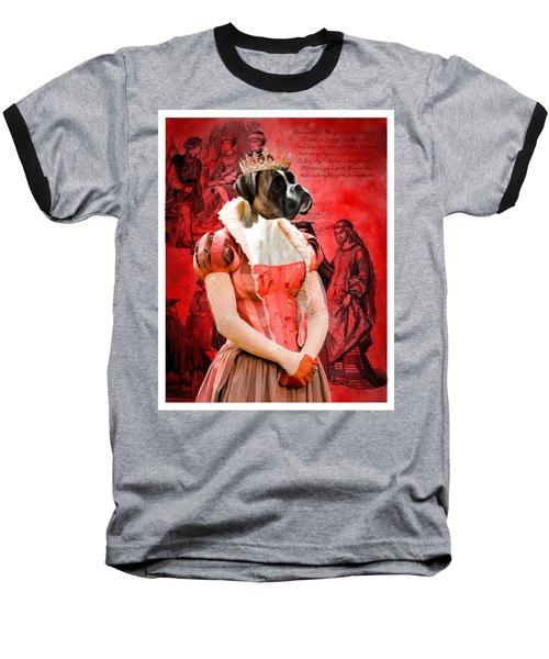 Boxer Art Canvas Print Baseball T-Shirt