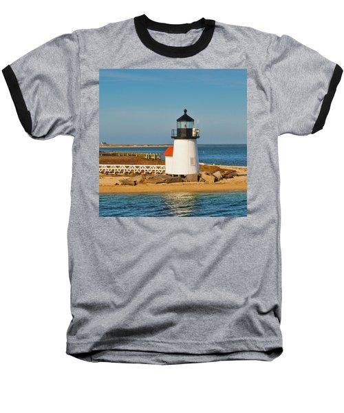 Brant Point Lighthouse Nantucket Baseball T-Shirt
