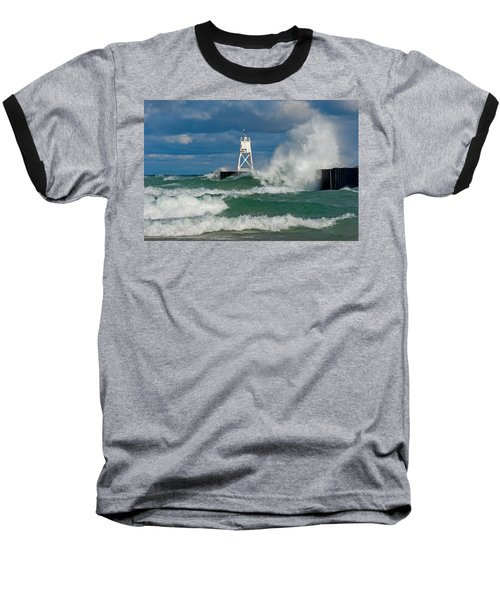 Break Wall Waves Baseball T-Shirt
