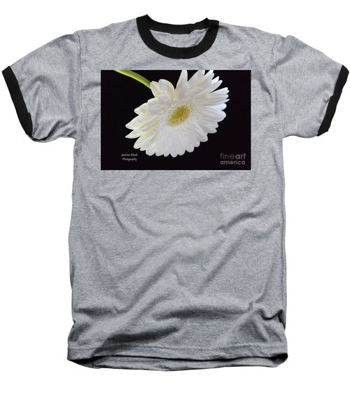 Baseball T-Shirt featuring the photograph Bright White Gerber Daisy # 2 by Jeannie Rhode