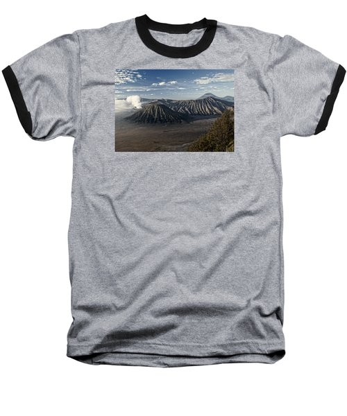 Bromo Mountain Baseball T-Shirt by Miguel Winterpacht