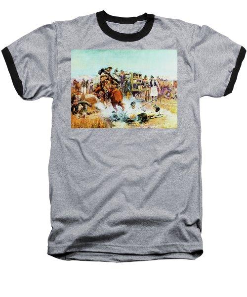 Bronc For Breakfast Baseball T-Shirt