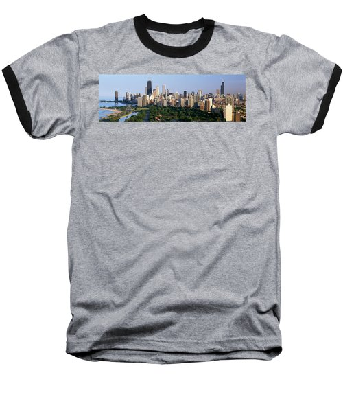 Buildings In A City, View Of Hancock Baseball T-Shirt by Panoramic Images