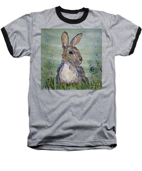 Bunny Rabbit Baseball T-Shirt by Ella Kaye Dickey