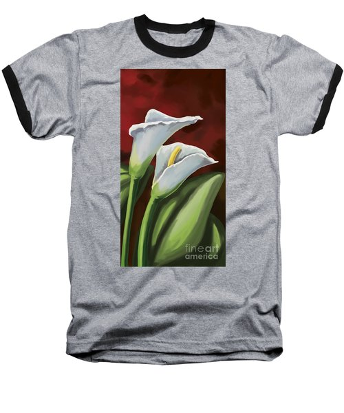 Calla Lilies  Baseball T-Shirt by Tim Gilliland