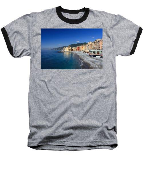 Baseball T-Shirt featuring the photograph Camogli - Italy by Antonio Scarpi