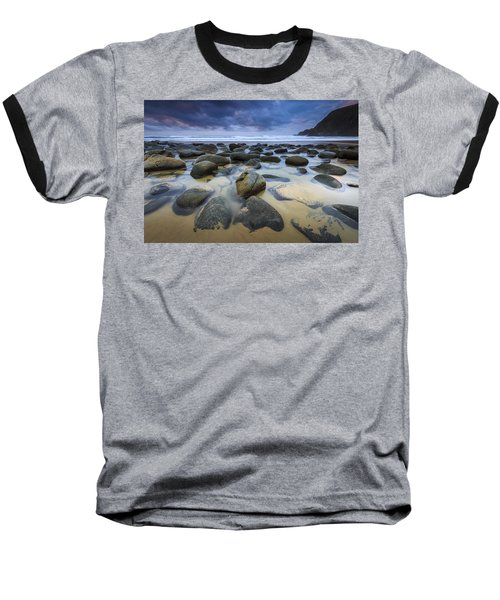 Baseball T-Shirt featuring the photograph Campelo Beach Galicia Spain by Pablo Avanzini
