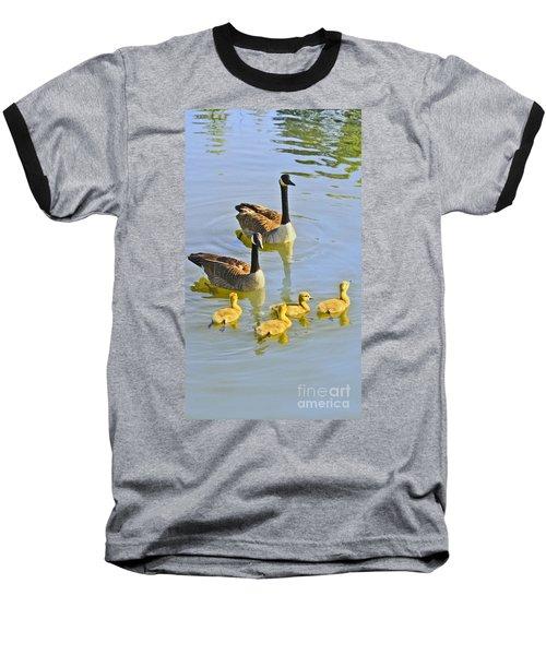 Canadian Goose Family Baseball T-Shirt