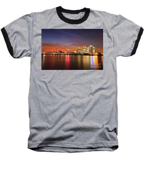Canary Wharf 2 Baseball T-Shirt by Mariusz Czajkowski
