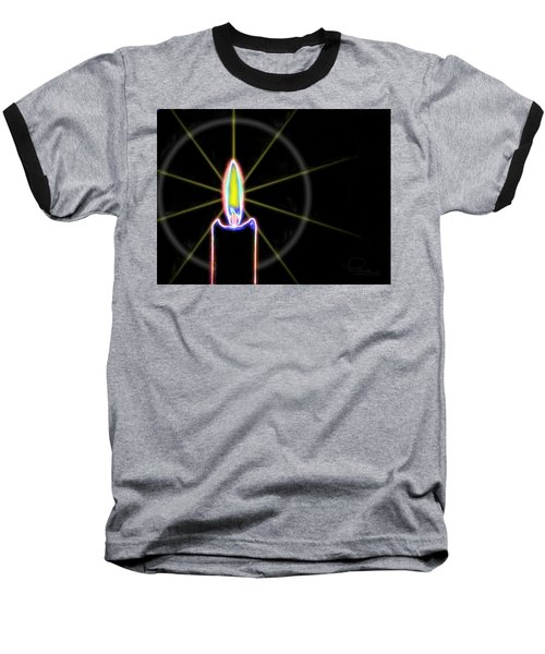 Baseball T-Shirt featuring the photograph Candle by Ludwig Keck
