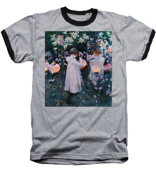Carnation Lily Lily Rose Baseball T-Shirt by John Singer Sargent