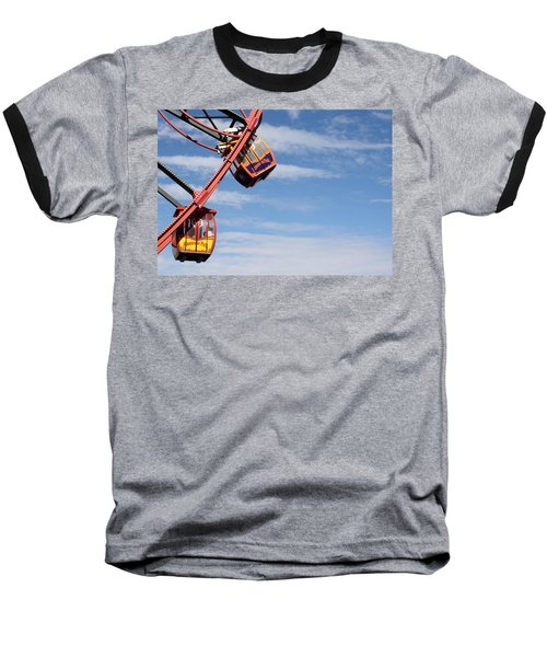 Carousel Twist Baseball T-Shirt by David Nicholls