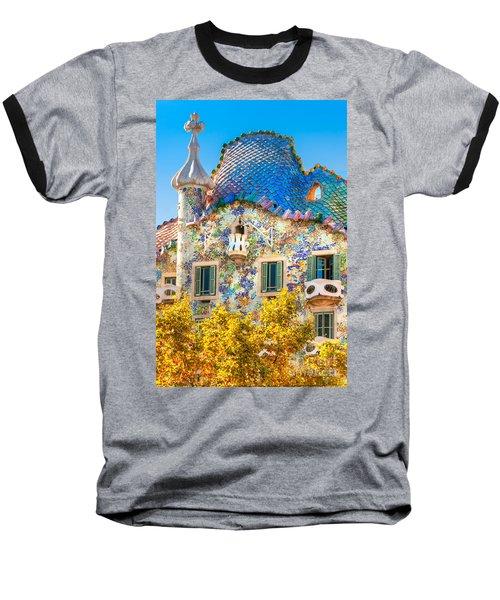 Casa Batllo - Barcelona Baseball T-Shirt