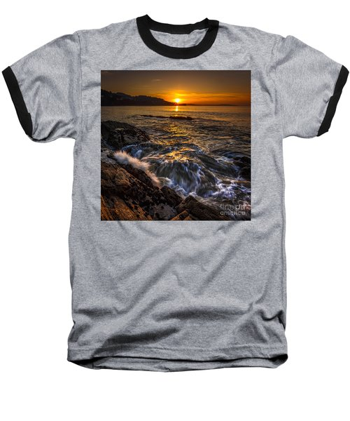 Chamoso Point In Ares Estuary Galicia Spain Baseball T-Shirt