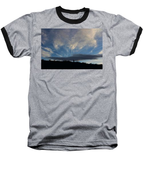 Baseball T-Shirt featuring the photograph Chase The Moonlight by Tammy Espino