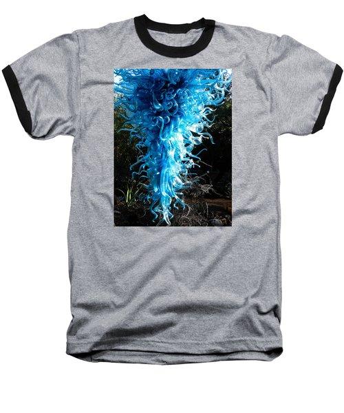 Chihuly In Blue Baseball T-Shirt by Menachem Ganon