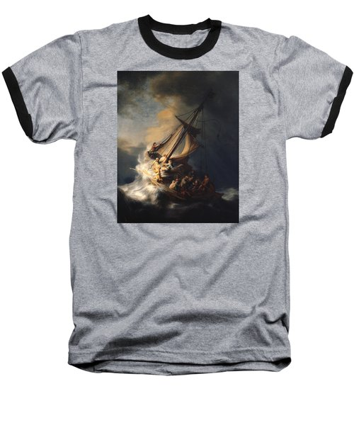 Christ In The Storm On The Sea Of Galilee Baseball T-Shirt by Rembrandt Van Rijn