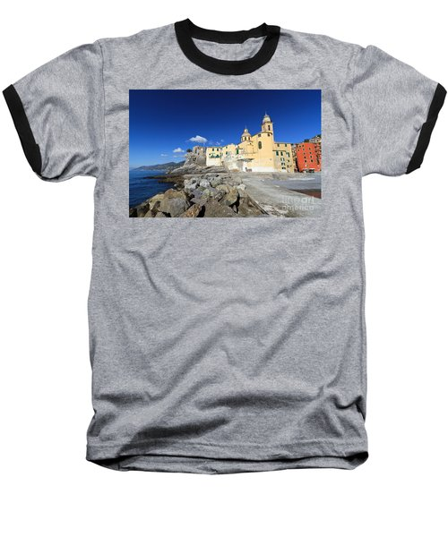 Baseball T-Shirt featuring the photograph church in Camogli by Antonio Scarpi