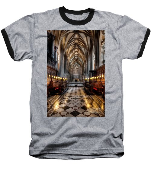 Church Interior Baseball T-Shirt by Adrian Evans
