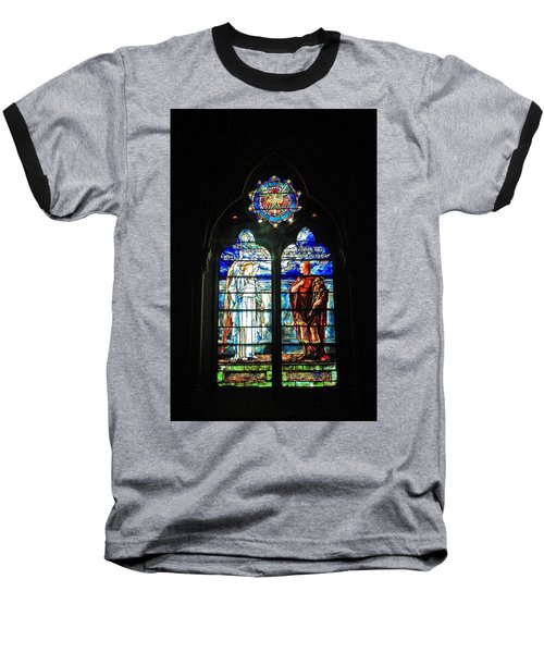Church Of The Covenant Stained Glass 11 Baseball T-Shirt