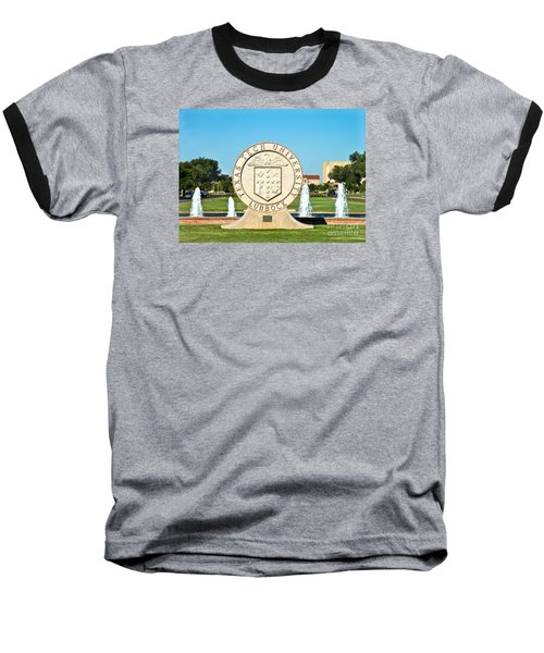 Baseball T-Shirt featuring the photograph Classical Image Of The Texas Tech University Seal  by Mae Wertz