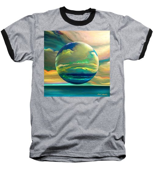 Clouding The Poets Eye Baseball T-Shirt by Robin Moline