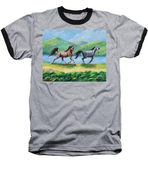 Colt And Mare Baseball T-Shirt