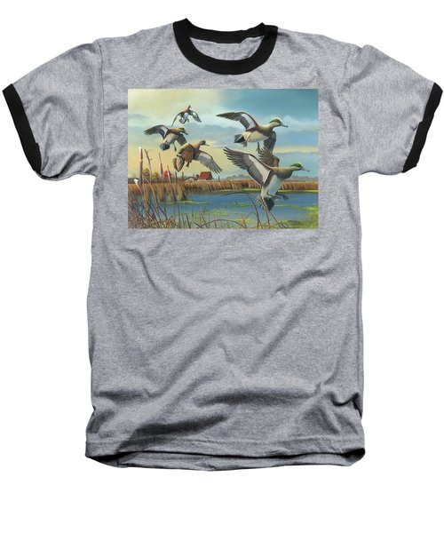 Baseball T-Shirt featuring the painting Coming Home by Mike Brown