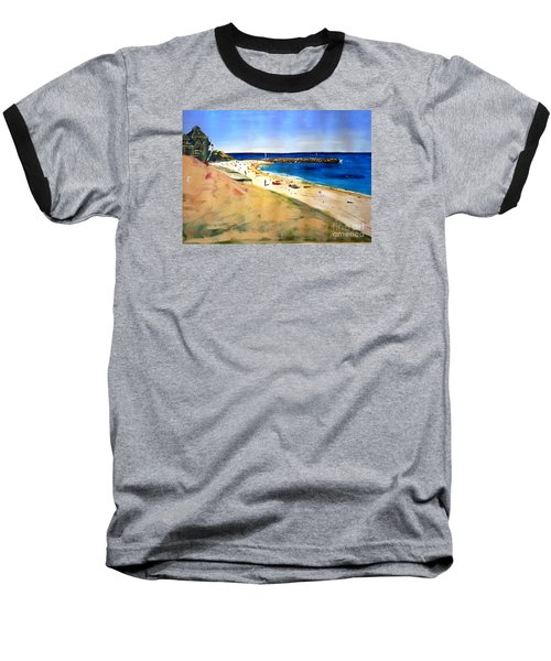 Baseball T-Shirt featuring the painting Cottesloe Beach by Therese Alcorn