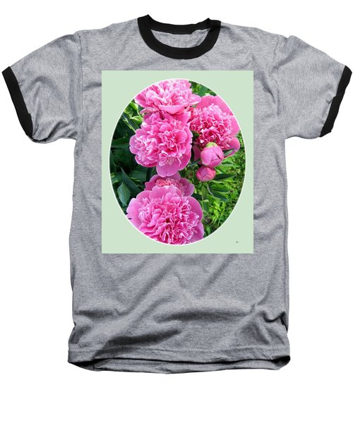 Country Peonies Baseball T-Shirt