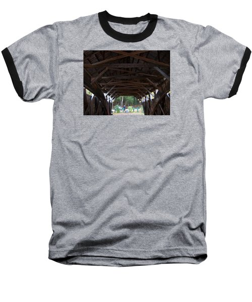 Covered Bridge Baseball T-Shirt by Catherine Gagne