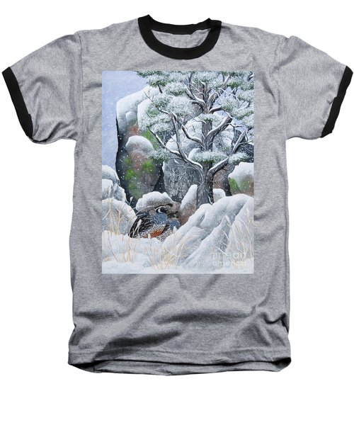 Baseball T-Shirt featuring the painting Cozy Couple by Jennifer Lake